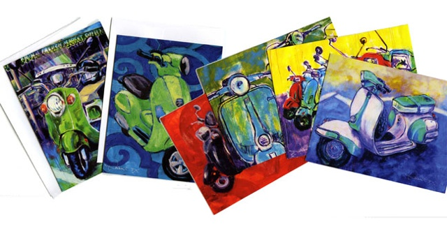 Pack of 6 Different Scooter Notecards