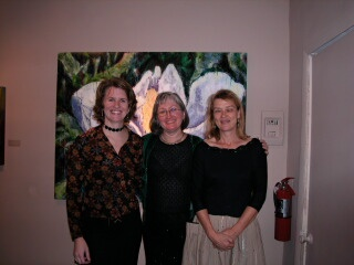 Joan, Nancy Grabowski, Sheep Jones at Beveled Edge Gallery reception