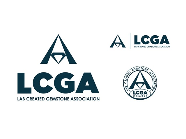 Lab Created Gemstone Association (LCGA)  Identity (Vert/Horizontal) and Member Seal  May 2010