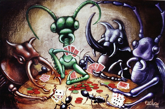 Insects Playing Poker