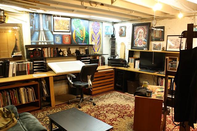 my basement painting studio
