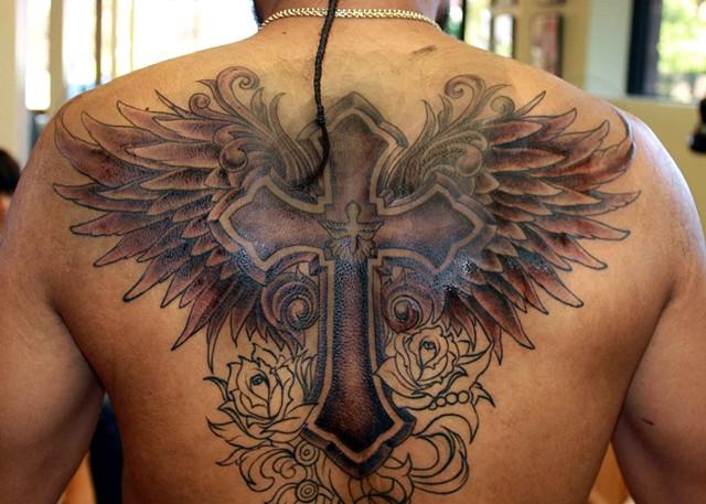 fe6ea3a1a Edward R. Shaw - Cross Wings Tattoo