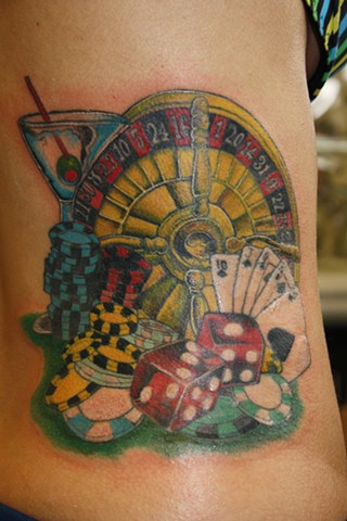 roulette wheel casino tattoo