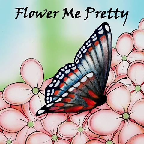 """Flower Me Pretty"" Color logo design"