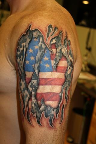ACU Skin rip tattoo