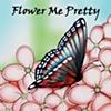 """Flower Me Pretty"" Color logo design"