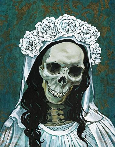 Santa Muerte in white