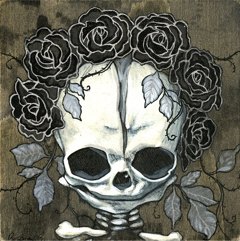 mini memento mori painting