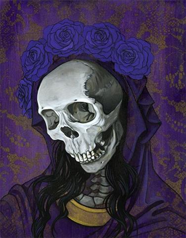 Santa Muerte in Purple