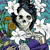 Santa Muerte as an allegory of spring