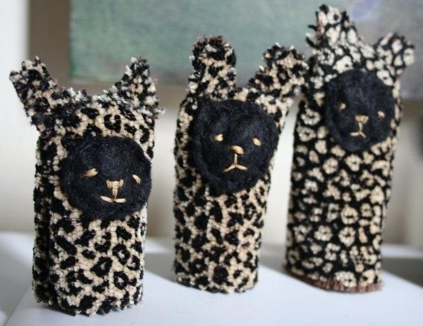 little leopard puppets