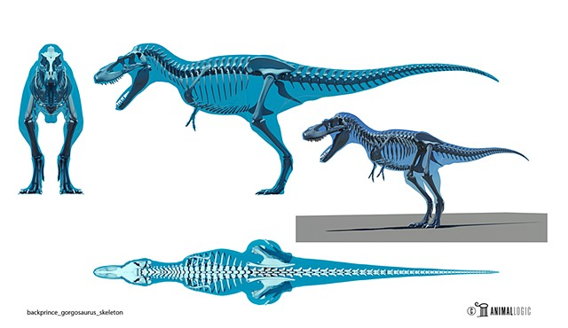 wwd 3d movie blackprince_gorgosaurus_skeleton rig model