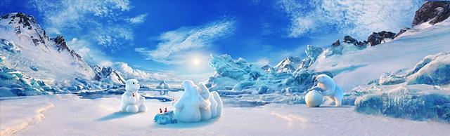 coca cola snowbear