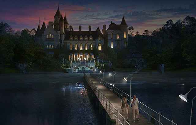 the great Gatsby Gatsbys pier after party copyright warners and animal logic