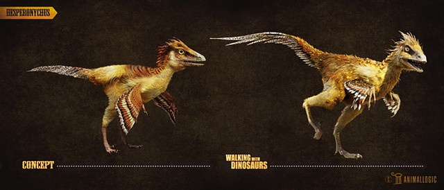 Hesperonychus:  Walking with dinosaurs 3d movie