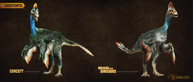 chirostenotes:  Walking with dinosaurs 3d movie