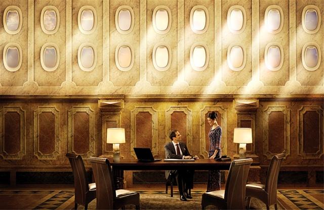 singapore air poster 3d textures