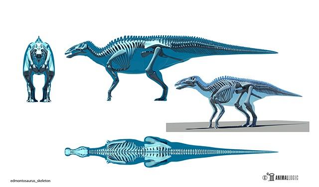 wwd 3d movie edmontosaurus_skeleton rig model