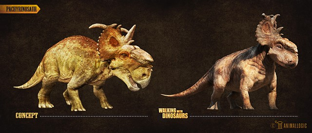 pachyrinosaur adult: Walking with dinosaurs 3d movie