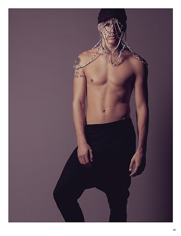 Hat with chains in Papercut Magazine