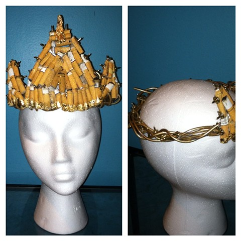 Cigarette crown of thorns