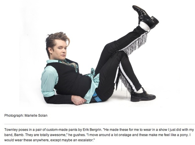 "Pants in TIMEOUT Magazine's,  ""Most stylist New Yorkers."""