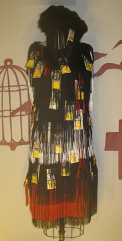 """Goodbar""  Costume that never made it into the show. Fringed mousetrap dress."