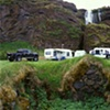 Farm House Foundation and Caravans, Hamrgardar, Iceland