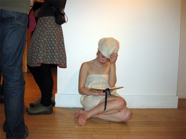 I am a small love.  Be mine.  (Red Mill Gallery, VSC, opening performance)