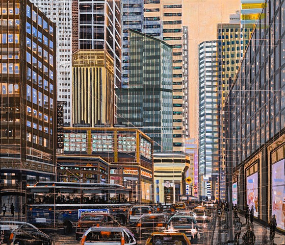 city scape paintings