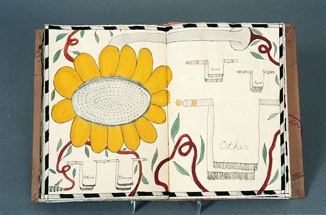 drawing, sketchbook, Doug Beube, stitch, sketch, one of a kind