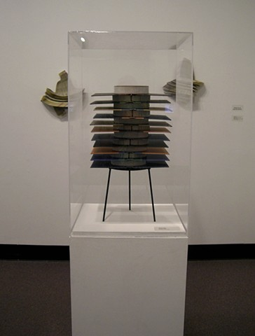 exhibition, installation, book, bookwork, bookworks, altered, altered book, unique, one of a kind, unique book, sculpture, power tools,