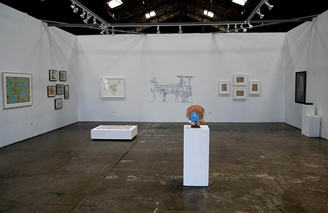 installation, exhibition, globe, sculpture, power tools,