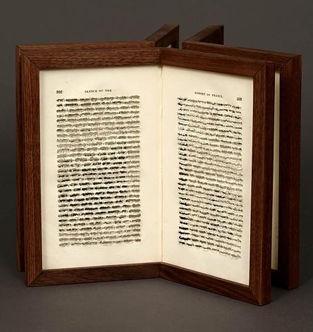 spiritual, religious, dremel, prejudiced, book, bookwork, bookworks, unique book, sculpture, one of  a kind, power tools, cut, deconstructed,