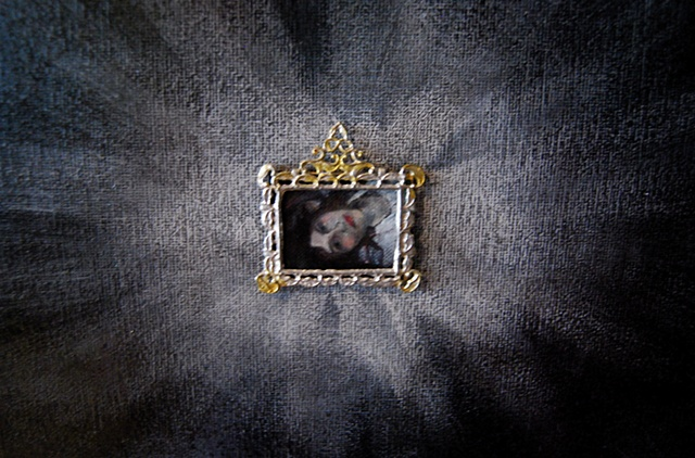 Miniature oil painting, Ophelia, mini, framed by Jessica Schramm