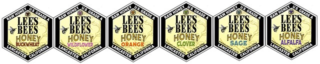 Lees Bees Honey Labels