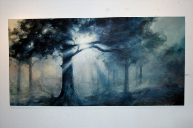 Acrylic Painting, muse, tree, trees, nature, inspiration, epiphany by Jessica Schramm