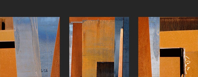 ' composition in orange and blue '