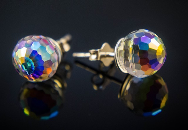 Swarovski Crystal Faceted Studs
