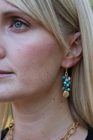 Vermeil Drop & Cluster Earrings