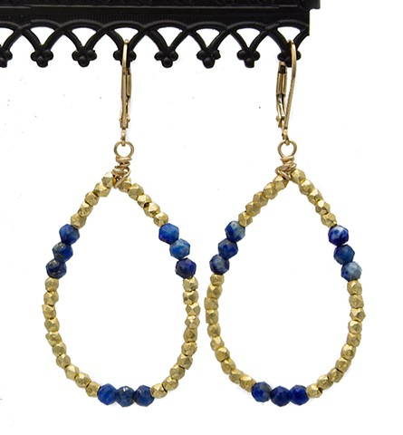 Vermeil & Lapis Teardrop Earrings