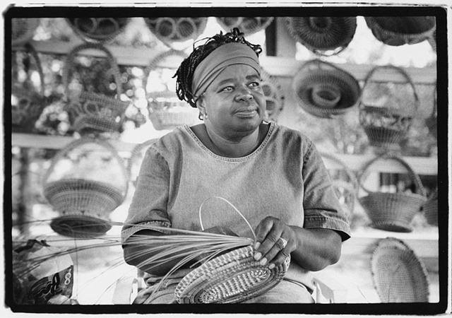 Vera Manigault, Sweetgrass Basket Sewer