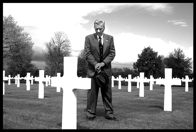 WWII Vet at Military Cemetary