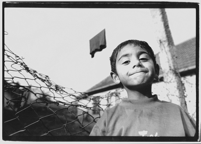 Young Boy in Gypsy Settlement-Hungary