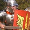 Cautious Ancient Rome Reenactors