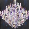 Chandelier Black Blue Pink
