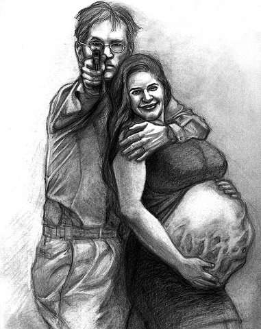 Marcus Howell, Marcus Howell art, pop surrealism, lowbrow, lowbrow art, drawing, graphite, photoshop, family values