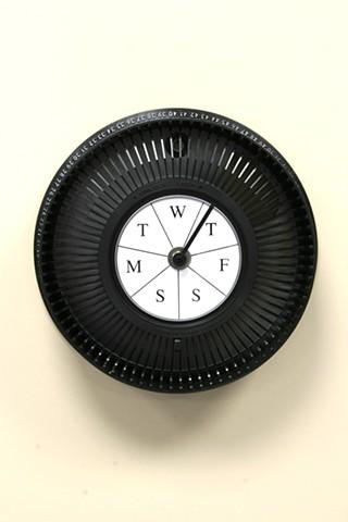 """""""Weekly Clock"""" (type #3 black)"""
