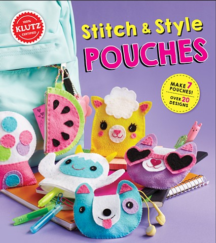 "maker,  ""Stitch & Style Pouches"" activity book Klutz - Scholastic"
