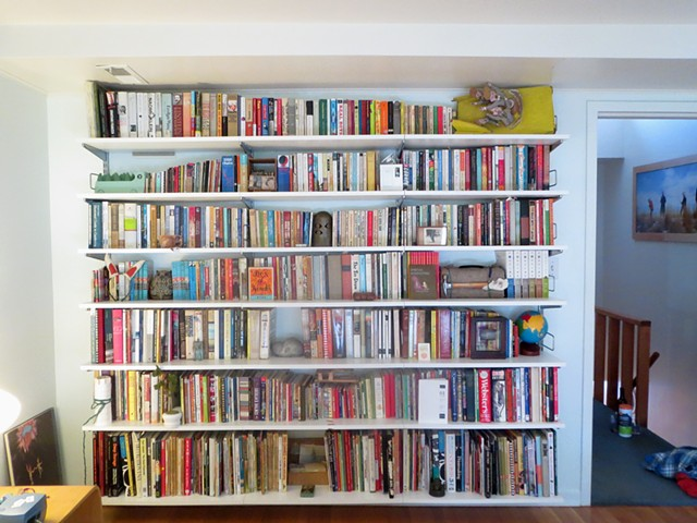 Bedroom bookshelves, after Aguilar